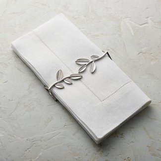 Leaf Napkin Silver Wrap
