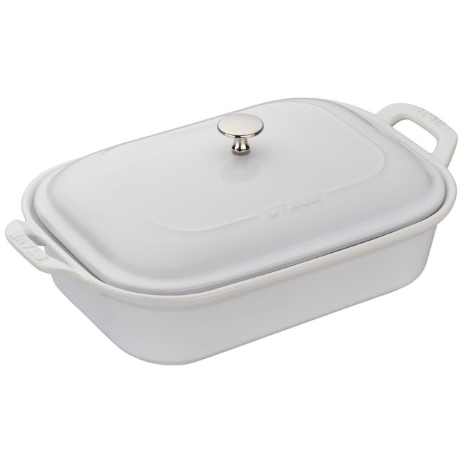 Staub Staub Ceramic Rect Covered Baking Dish White