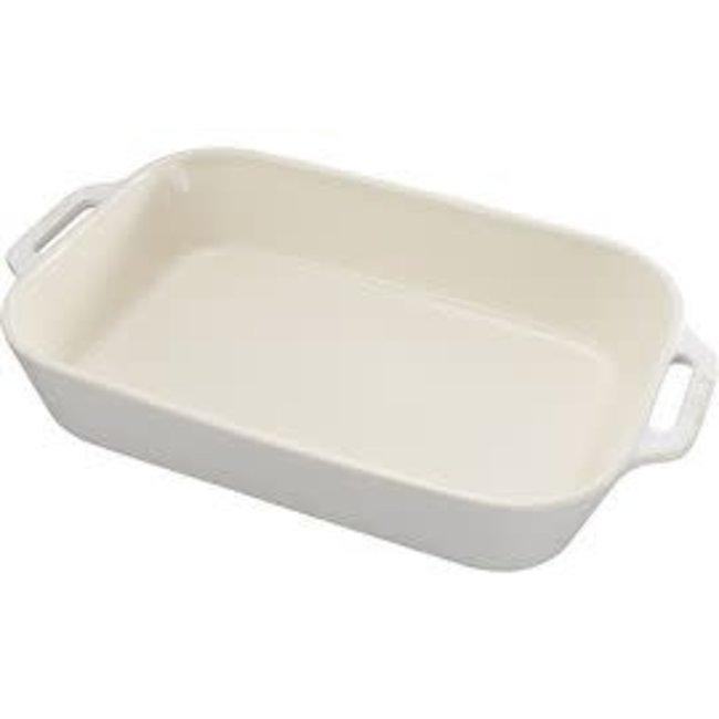 Staub Staub Ceramic Rect Baking Dish White