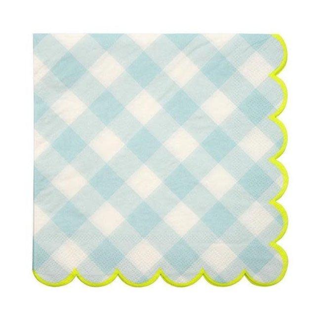 blue gingham large napkin