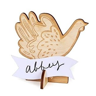 Meri Meri Thanksgiving Wooden Turkey Placecards