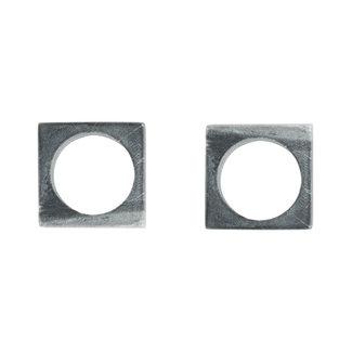 Modernist Napkin Rings Gray Marble