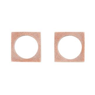 Modernist Napkin Rings Blush