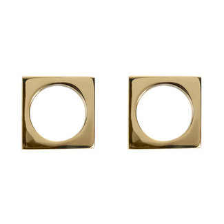 Modernist Napkin Rings Brass
