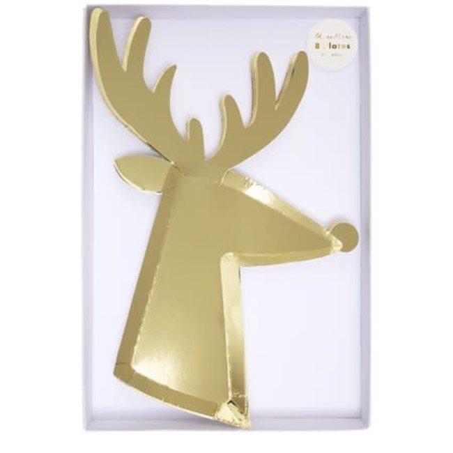 Gold Reindeer Plate