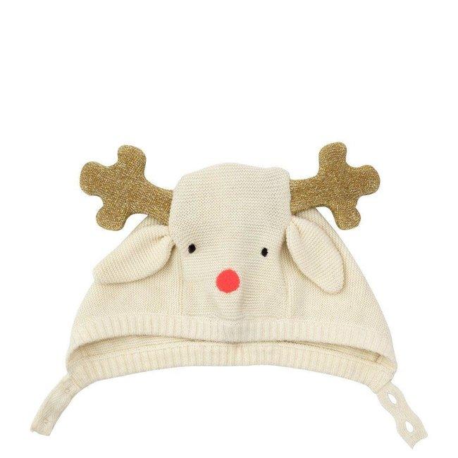 Reindeer Baby Bonnet