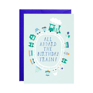 All Aboard the Train Card