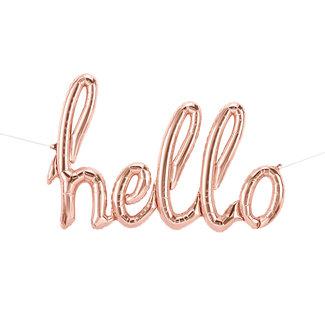 hello script- rose gold