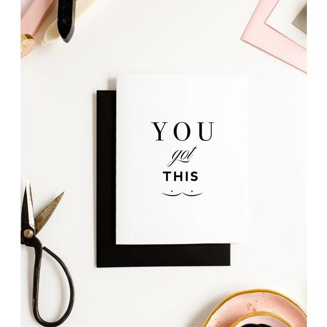 you got this boobies card