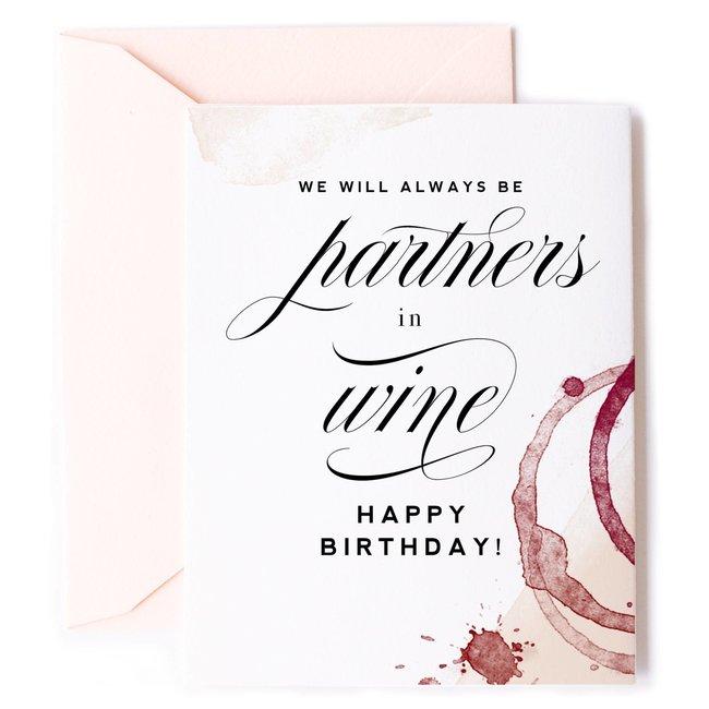 Partners in Wine birthday card