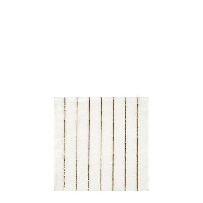 Gold Stripe Small Napkins