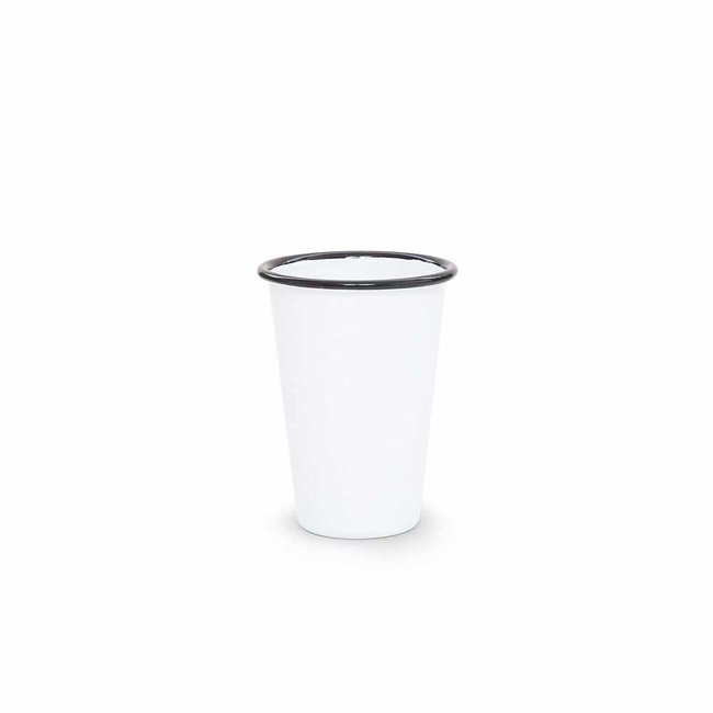 crow canyon Vintage Tumbler White w/Black Rim