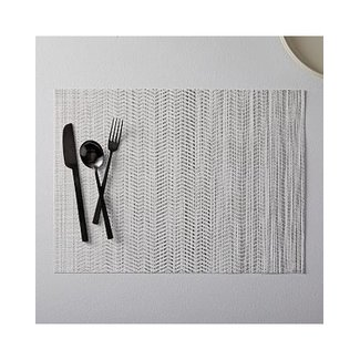 Wave Placemat Black White