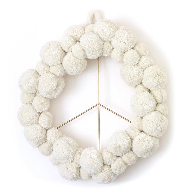 Peace + Pom Wreath