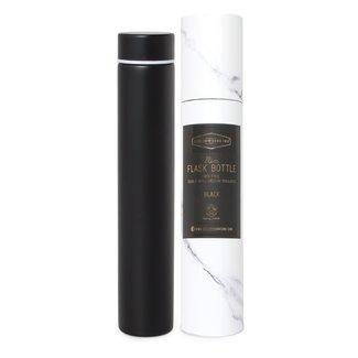 Black Marble Slim Flask