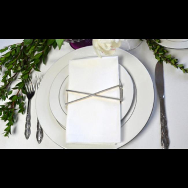 Silver X Napkin Wrap