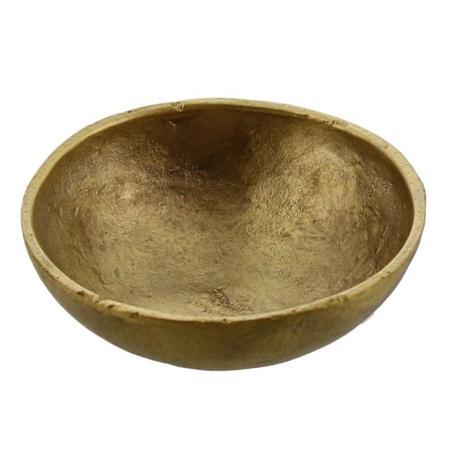 Tiny Cast Round Bowl Brass