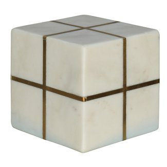 Aperture Cube Brass Marble