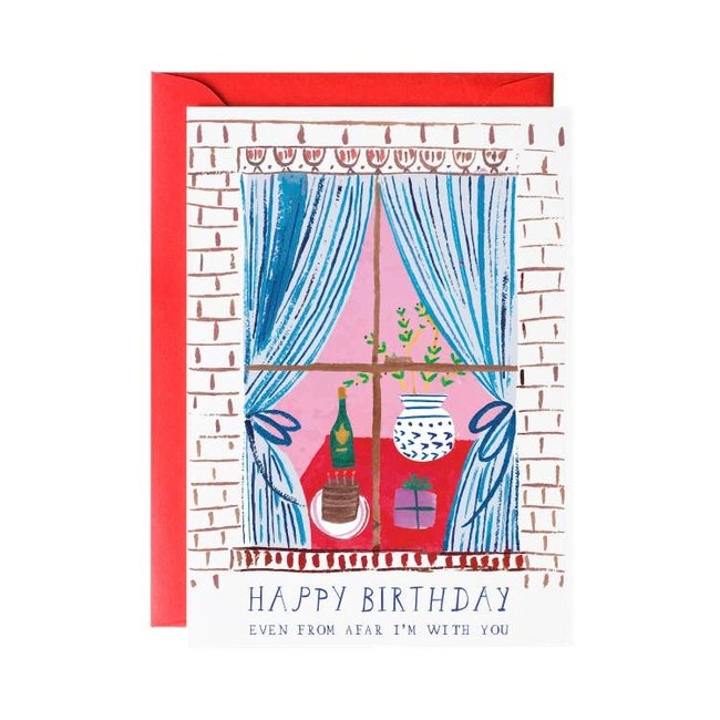 Window Party Birthday Card