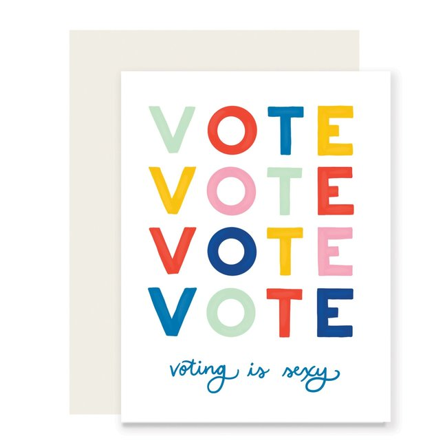 Voting is Sexy Card