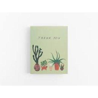 Cactus Thank You Card
