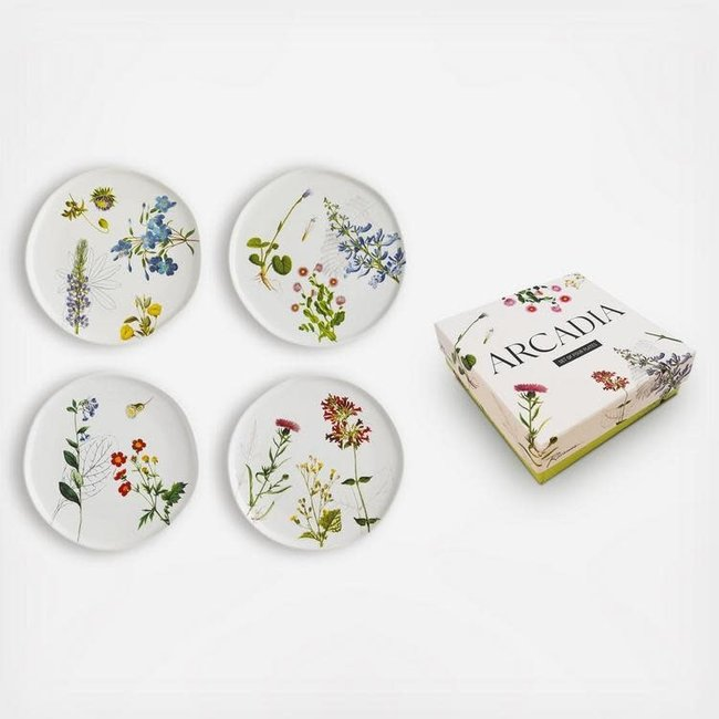 Arcadia Appetizer Plates S/4