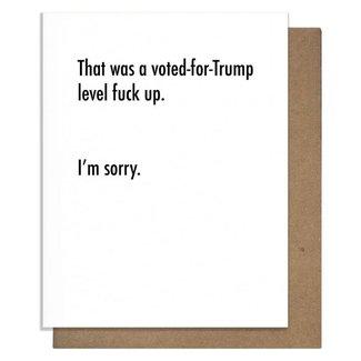 Trump Sorry Card