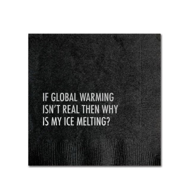 Global Warming Cocktail Napkin