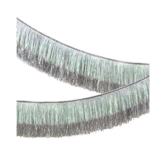 Silver Tinsel Fringe Garland