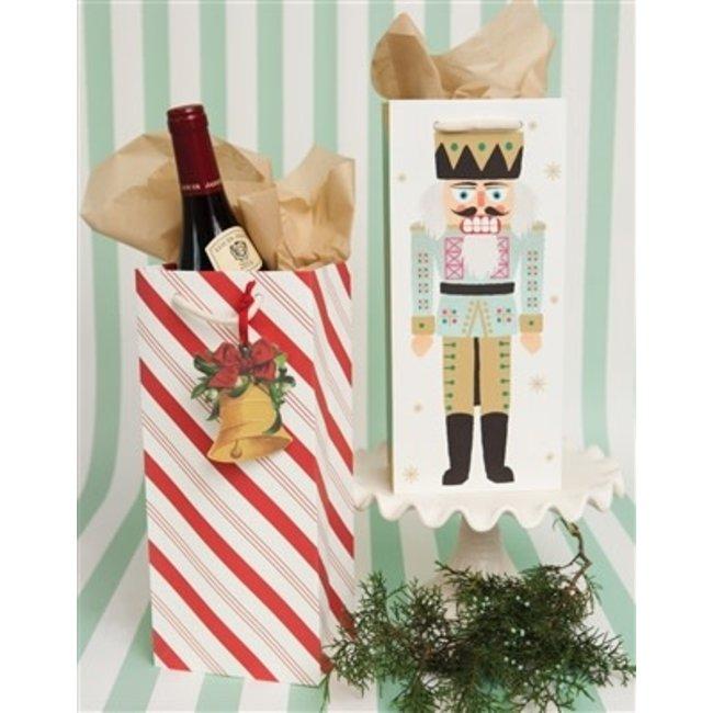 Candy Stripe Wine Gift Bag