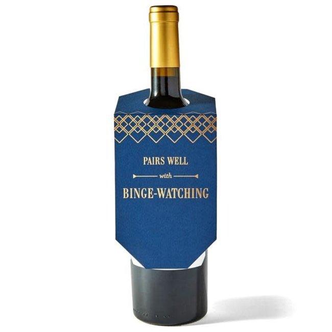 Binge Watching Wine Tag