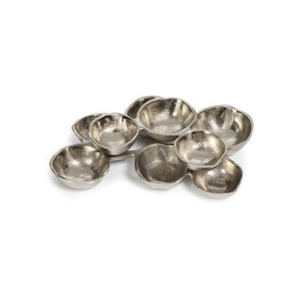 Small Cluster 9 Serving Bowls-Nickel