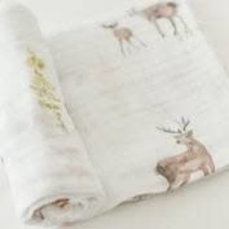 Oh Deer Cotton Muslin Swaddle Single