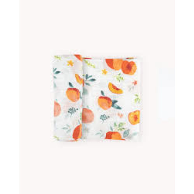 Georgia Peach Cotton Muslin Swaddle Single