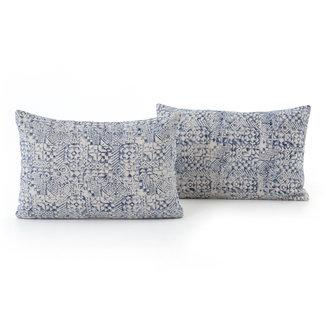 "Faded Mosaic Print Pillow 16x24"""