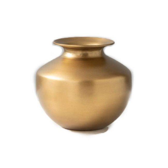 Brass Lota Vase Round