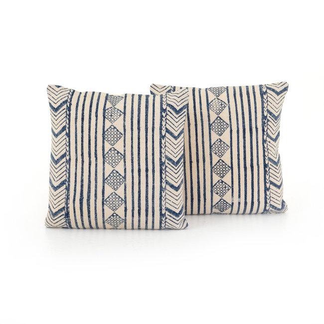 "Faded Blue Diamond Pillow 20"""