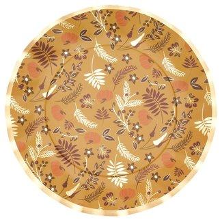 Gold Harvest Wavy Dinner Plates