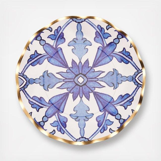 Moroccan Nights Wavy Salad Plate