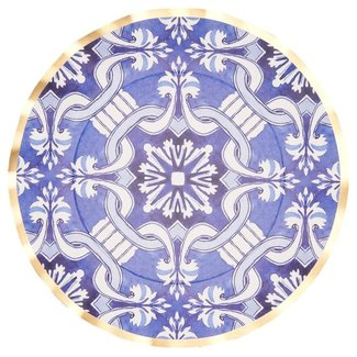 Moroccan Nights Wavy Paper Dinner Plates