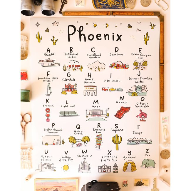 Phoenix Alphabet Poster