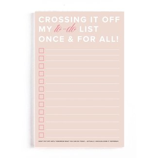 Crossing It Off My To-Do List Notepad