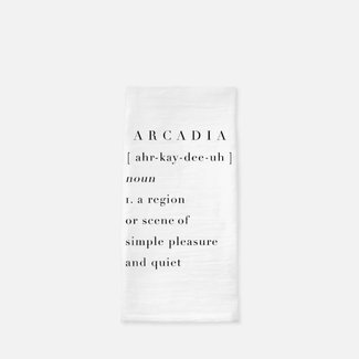 Arcadia Definition Tea Towel