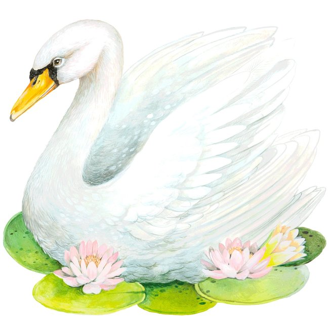 Die Cut Fabulous Swan Placemat