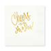 Cheers to Mrs./Mr. Cocktail Napkins White