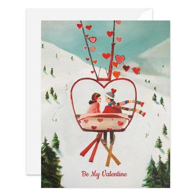 Ski Lover's Valentine Card