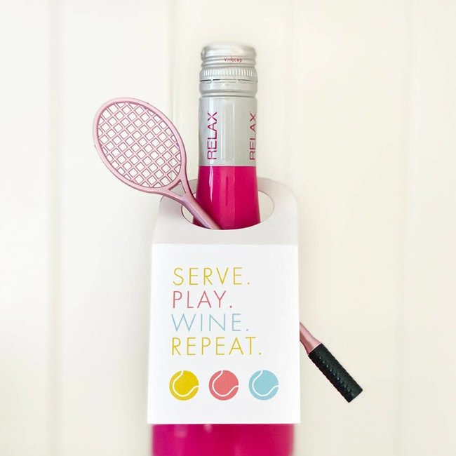 Serve Play Wine Repeat Wine Tag Set