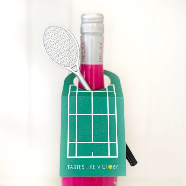 Tennis Court Wine Tag Set