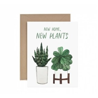 New home New Plants Card