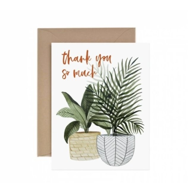 Thank You So Much Potted Plant Card